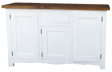 Dresser Base White with Waxed Top